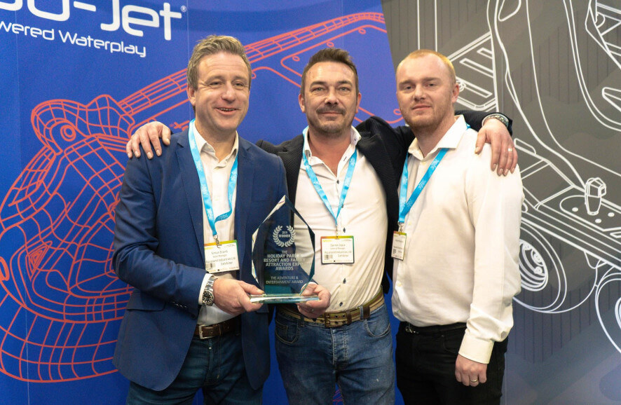 Aqualand Industries Ltd is adventure & entertainment award winner at the Holiday Park & Resort Innovation Show